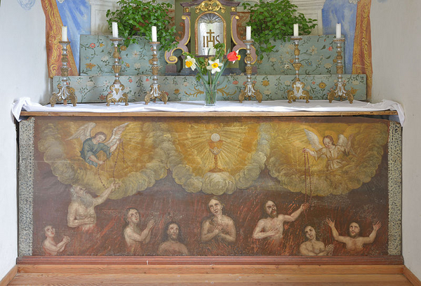 Woehrerkapelle Altar Detail Arme Seelen1