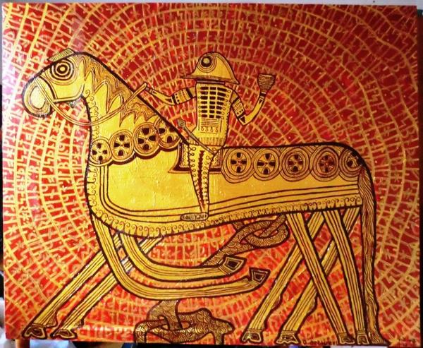 The Vikings  Odin Riding his Eight Legs Horse  Sleipnir