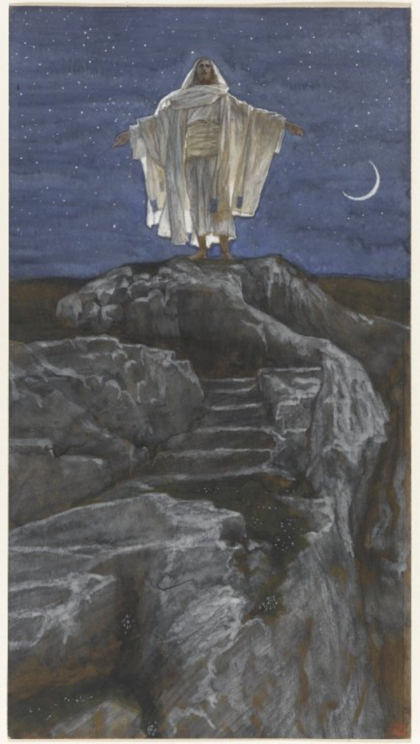 Brooklyn Museum   Jesus Goes Up Alone onto a Mountain to Pray  Jesus monte seul sur une montagne pour prier    James Tissot   overall  wikimedia